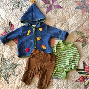 First Moments Embroidered Sweater Outfit 0-3m